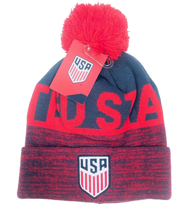 United States Beanie - Blue/Red (120519)