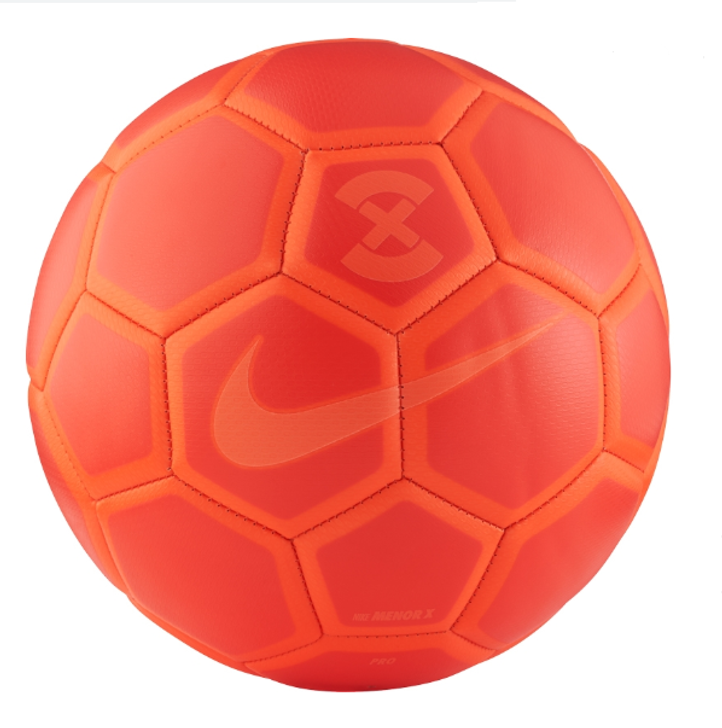 Nike FootballX Menor Futsal Soccer Ball - Bright Crimson/Hyper Orange (121519)