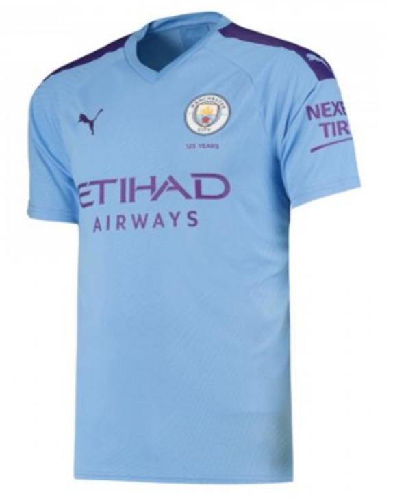 Puma Manchester City 2019/20 Home Jersey - Team Light Blue/Tillandsia Purple (012420)