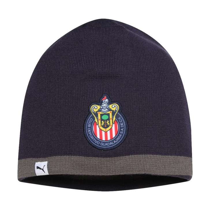 Puma Chivas Reversible Beanie - New Navy/Iron Gate/White (123119)