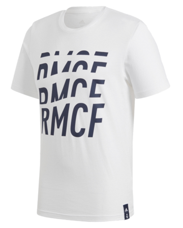 adidas Real Madrid C.F DNA Tee - White/Navy (123119)