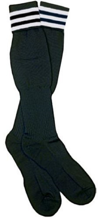 Official Sports The Italian Ref 3 Stripe Sock - Black/White