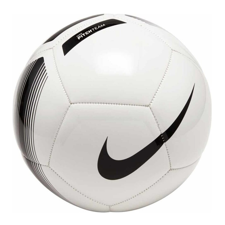 Nike Pitch Team Soccer Ball - White/Black- (020821)