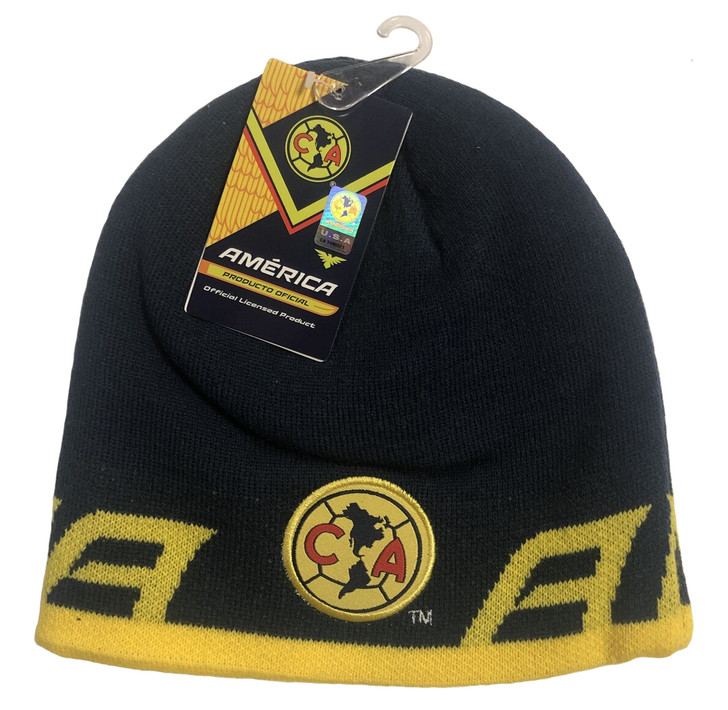 Club America Beenie - Navy/Yellow