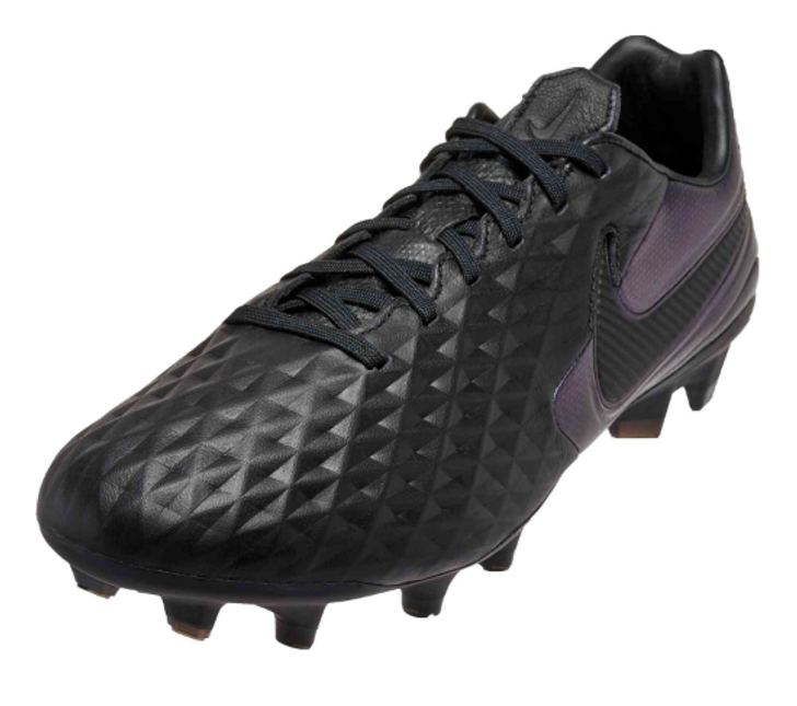 Nike Legend 8 Pro FG Soccer Cleats - Black/Black- (050421)