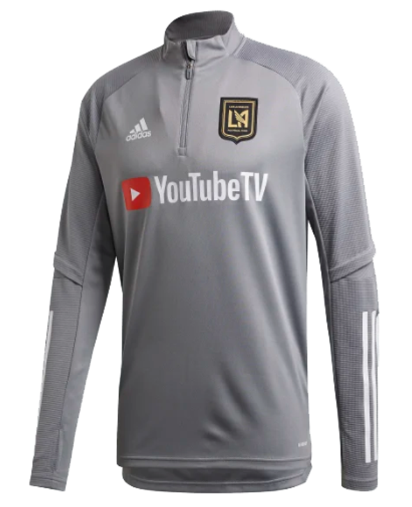 adidas LAFC Training Top - Grey/White- FS7071