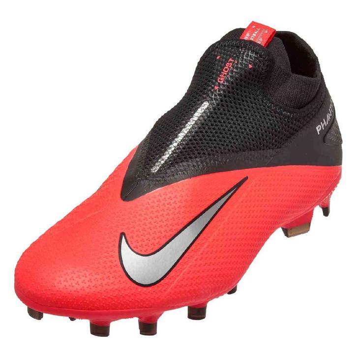 Nike Phantom VSN 2 Pro DF FG- Laser Crimson/Metallic Silver
