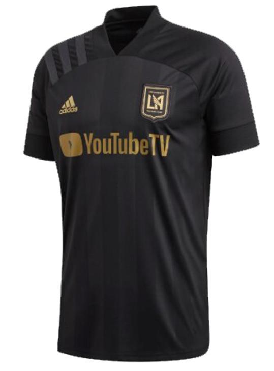 adidas LAFC Home 20/21 Jersey- Black/Dark Football Gold FL9601