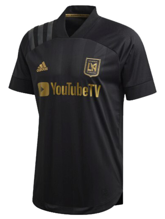 Adidas LAFC Authentic Home 20/21 Jersey- Black/Dark Football Gold (021420)
