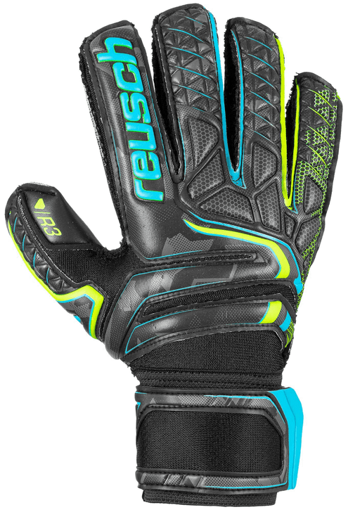 REUSCH ATTRAKT R3 FINGER SUPPORT GOALKEEPER GLOVES (062620)