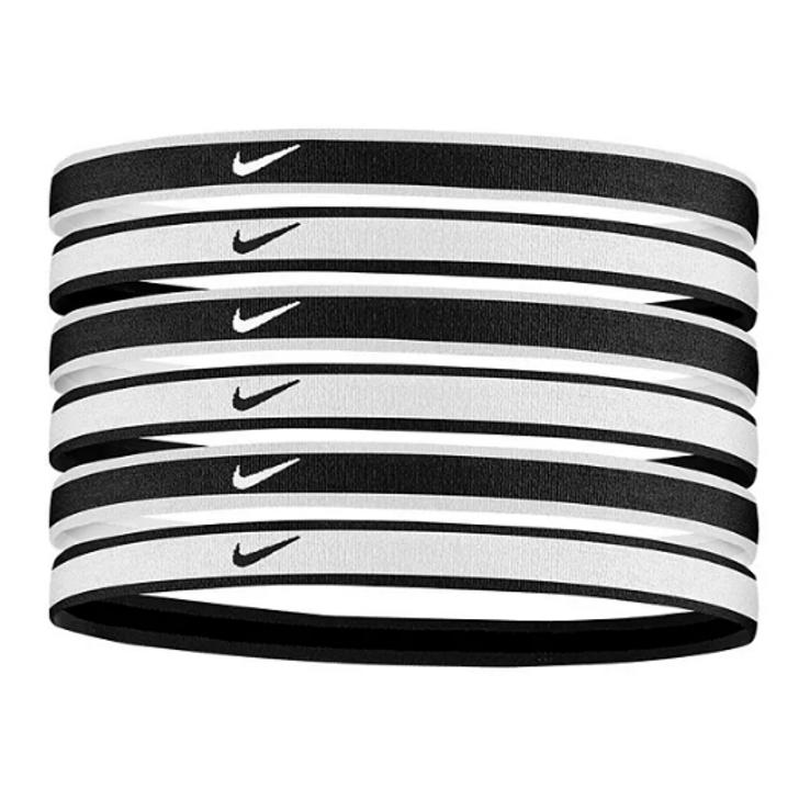 Nike Jacquard Hairbands 6 Pack - Black/White (101421)