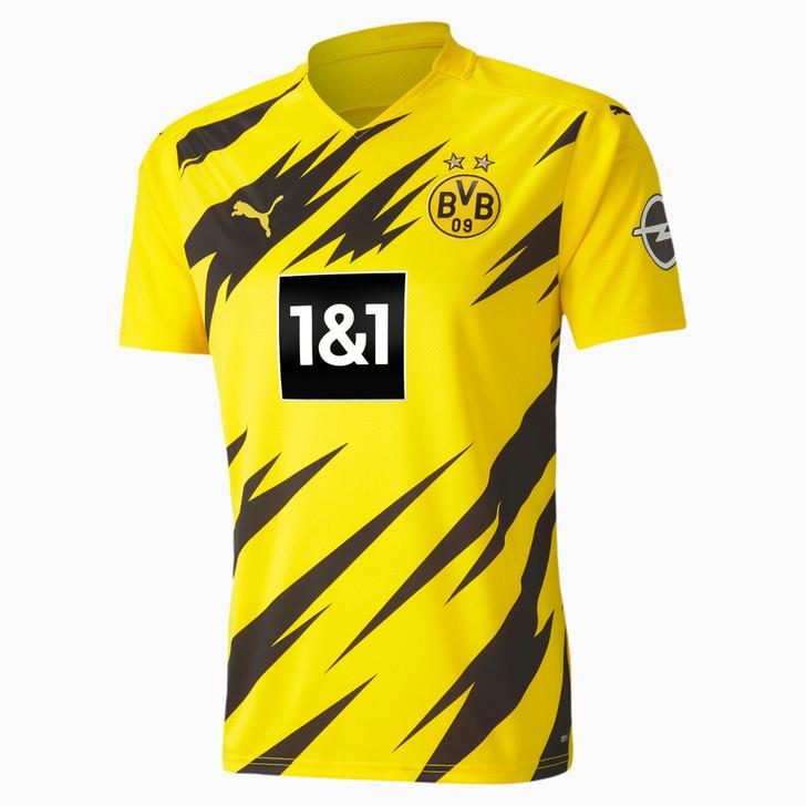 Puma Men's Borussia Dortmund Replica Home Jersey 20/21- Cyber Yellow/Puma Black- (120920)