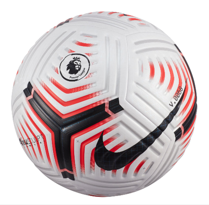 Nike Premier League Flight Elite Match Ball- White/Laser Crimson- RC (081420)