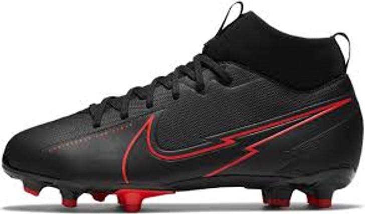 Nike Jr. Mercurial Superfly 7 Academy FG/MG- Black/Red- (052221)