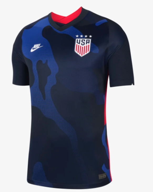Nike Men's U.S. Stadium Away (4-star) 20/21 Jersey- Dark Obsidian/Dark Obsidian/White- RC (021221)