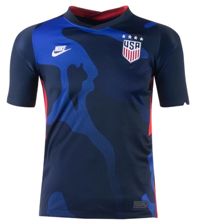 Nike Youth U.S. Stadium Away 20/21 Jersey (4-Star)- Dark Obsidian/Dark Obsidian/White- (110920)