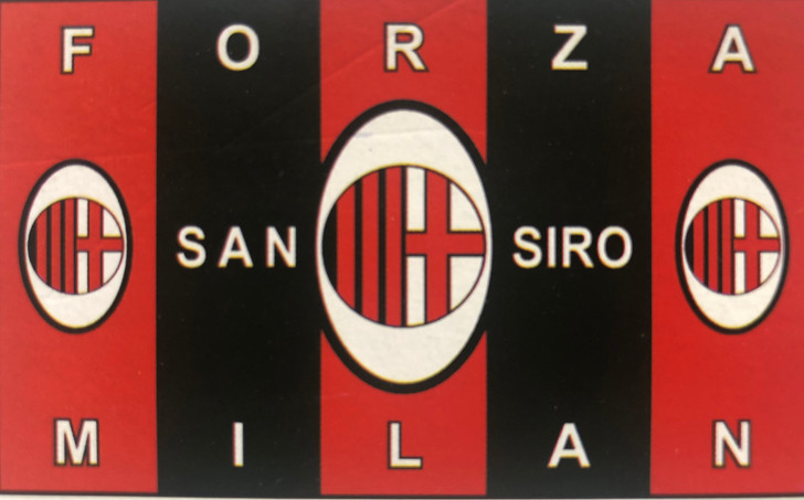3' x 5' sublimated AC Milan fan flag