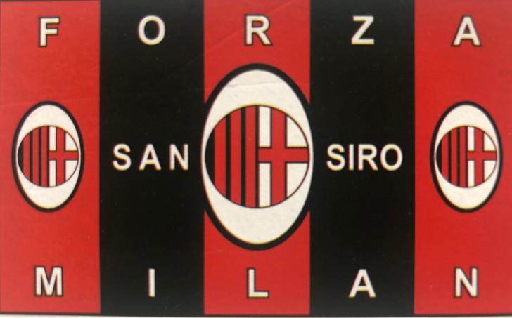 3' x 5' sublimated AC Milan fan flag