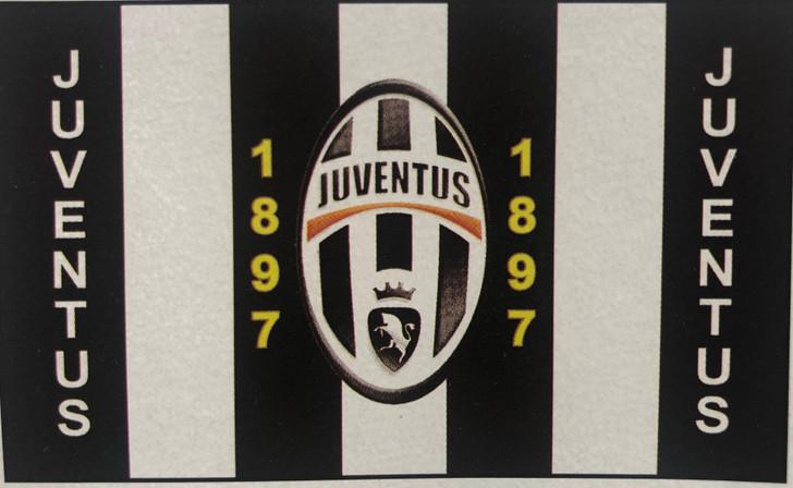 3' x 5' sublimated Juventus fan flag
