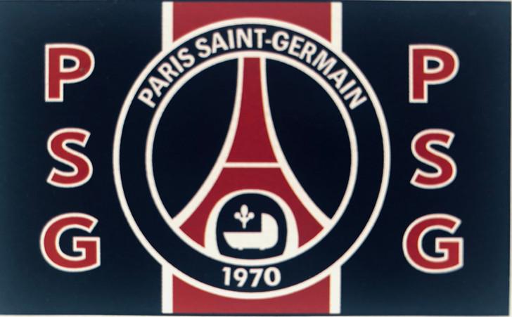 PSG fan soccer flag 3 X 5 sublimated nylon