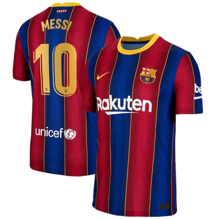 Youth Messi Barcelona Home Soccer Jersey 2020-2021 (123020)