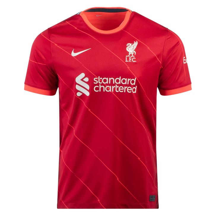 Nike Liverpool F.C. Stadium Home  21/22 Jersey- Gym Red/Bright Crimson/Fossil- (060521)
