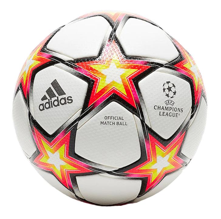 Adidas Champions League 21/22 Match Ball- Pyro Storm - White/Solar Red/Solar Yellow/Black(101121)