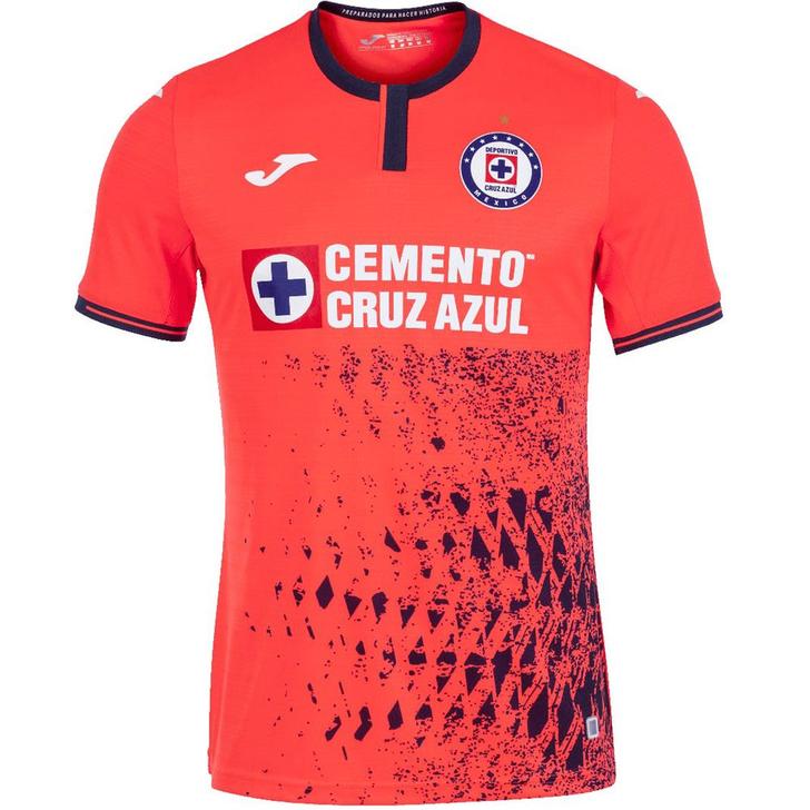 Joma Men's Cruz Azul 2021/22 Third Jersey Red Orange/White