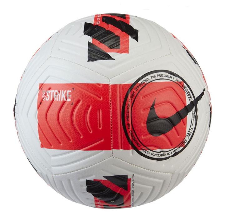 Nike Strike Soccer Ball - White/Bright Crimson (101221)
