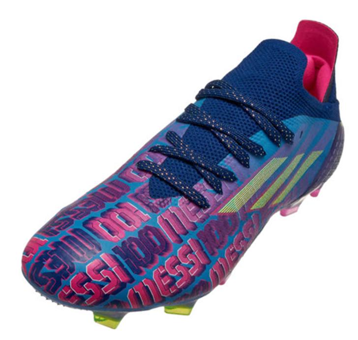 Adidas X SpeedFlow Messi .1 FG - Victory Blue / Shock Pink / Solar Yellow FY6879