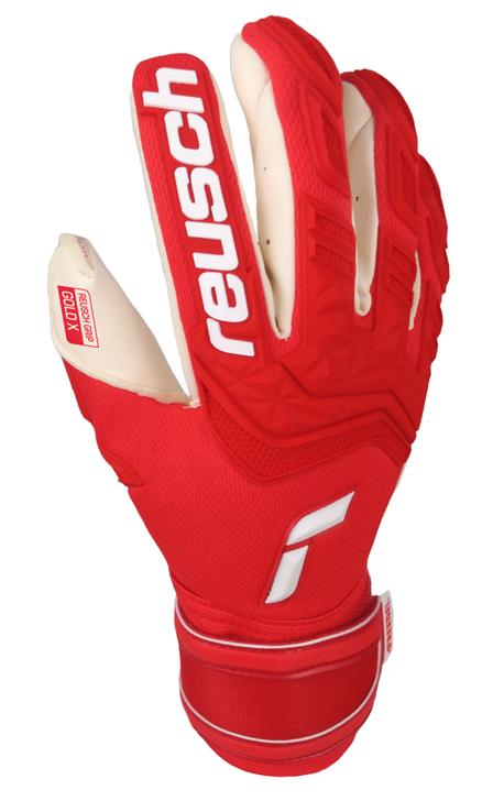 Reusch Attrakt Freegel Gold X Goalkeeper Gloves - Red/White