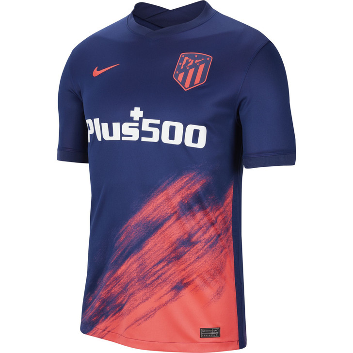 Nike Atletico Madrid 21/22 Stadium Away - Blue/Laser Crimson (101221)