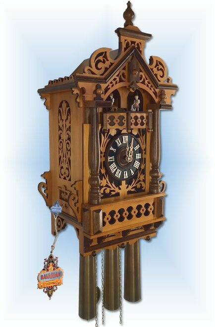 Rombach & Haas Trackwalker House | 18''H Antique Cuckoo Clock | Left View