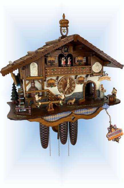 Bavarian Biergarten by Schneider | 17''H Chalet Cuckoo Clock | Full View
