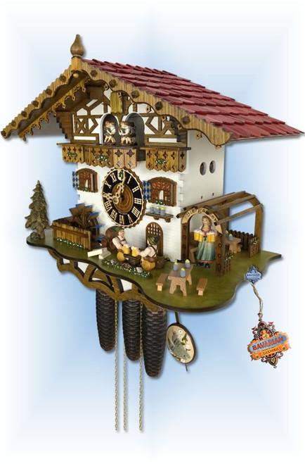 Hones | 8664t-zenzi | 14''H | German Biergarten | Chalet style | cuckoo clock | right view
