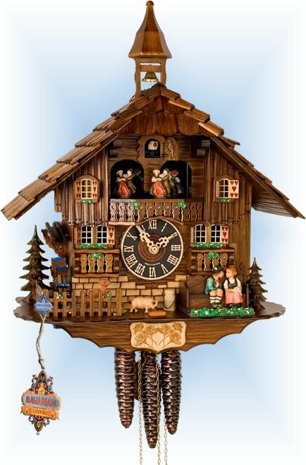 Hones | 638t | 16''H | Sweethearts | Chalet style | cuckoo clock | full view