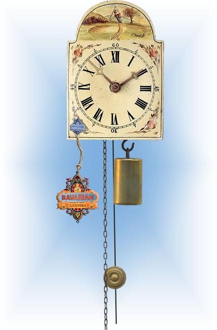 Rombach & Haas | 1golf-m | 5''H | Golfing Man | Shield style Cuckoo Clock | jockele clock | full view