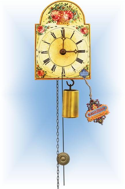 Rombach & Haas | 184 | 5''H | Flower Basket | Shield style Cuckoo Clock  | jockele clock | full view