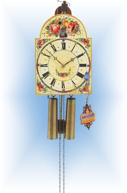 Rombach & Haas | 3402n | 13''H | 18th Century | Vintage | Shield Style Cuckoo clock | full view