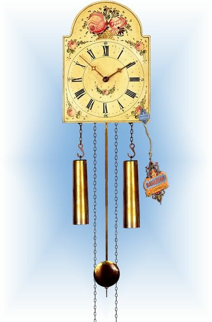 Rombach & Haas | 7373 | 15''H | Blooming Basket | Shield style Cuckoo Clock | painted clock | full view