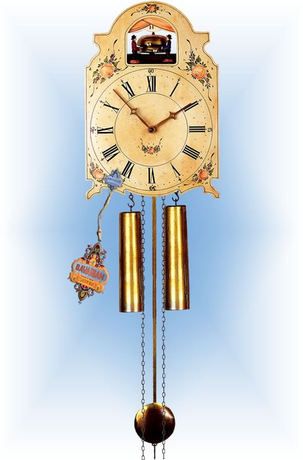 Rombach & Haas | 7376 | 15''H | Bell Strikers | Shield style | painted clock | full view