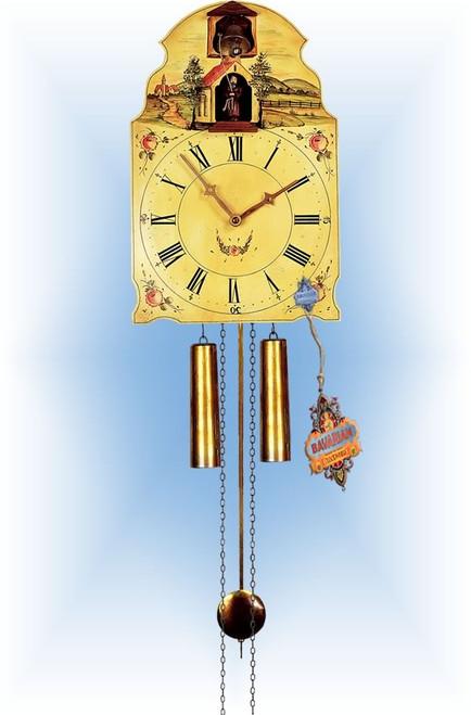 Rombach & Haas | 7378 | 16''H | Capuchin Friar | Shield style Cuckoo Clock | painted clock | full view