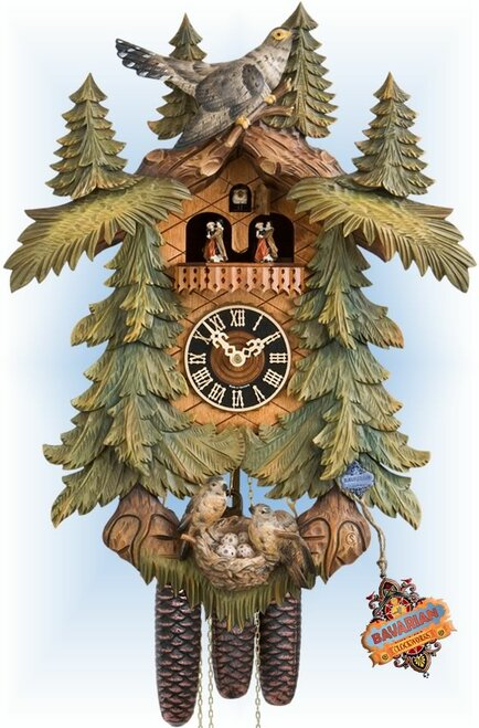 Hones | 86713-5tbu | 20''H | Nest Egg | Traditional | cuckoo clock | full view