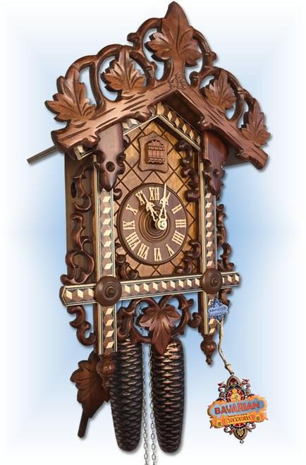 Ellipse Multicolor German Cuckoo Clock | Front View