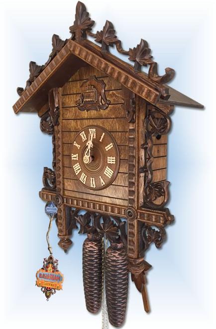 August Schwer | 2.0120.12.C | 17 inch | 2 Tone Railway | Vintage | cuckoo clock | right view