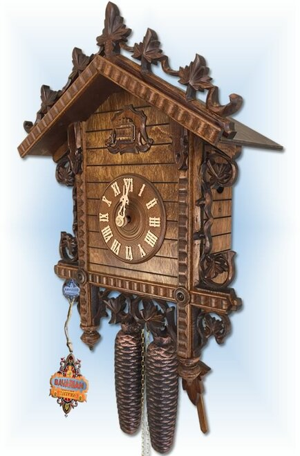 August Schwer | 2.0120.12.C | 17 inch | 2 Tone Railway | Vintage | cuckoo clock | right view