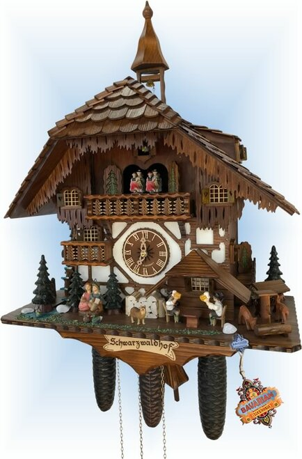 Schneider | 24''H | Forest Serenade | Chalet style | cuckoo clock | full view