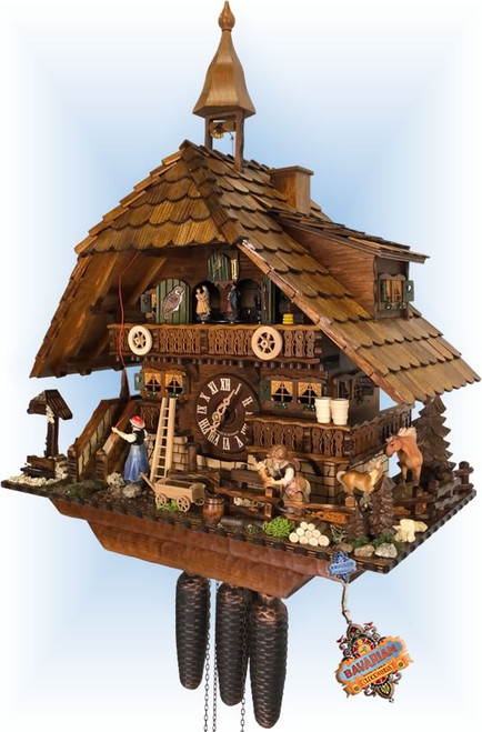 cuckoo clock | August Schwer | 5.0876.01.p | 22''H | Pony Farm | Chalet style | right view