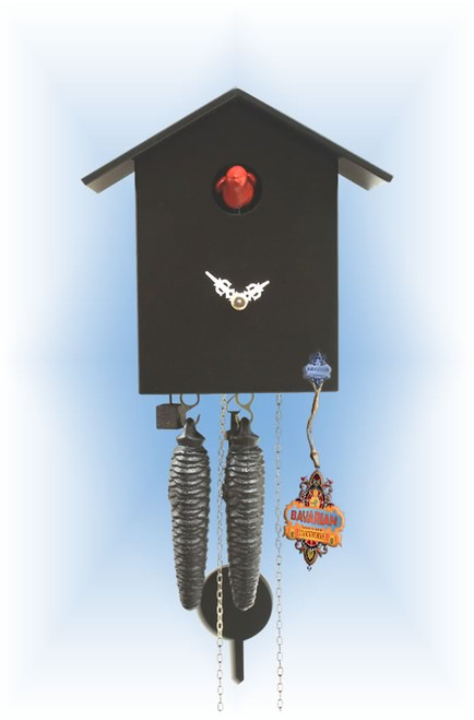 Rombach & Haas | kssl-2 | 0''H | Little Black | Modern | cuckoo clock | full view