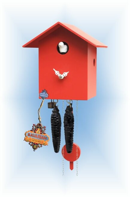 Rombach & Haas | kssl-3 | 0''H | Little Red | Modern | cuckoo clock | full view